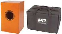 Performance Percussion PP142 Cajon - Natural Wood and  incl. Padded Carry Bag